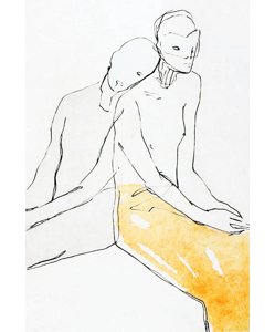TERJE RESELL - SEATED COUPLE