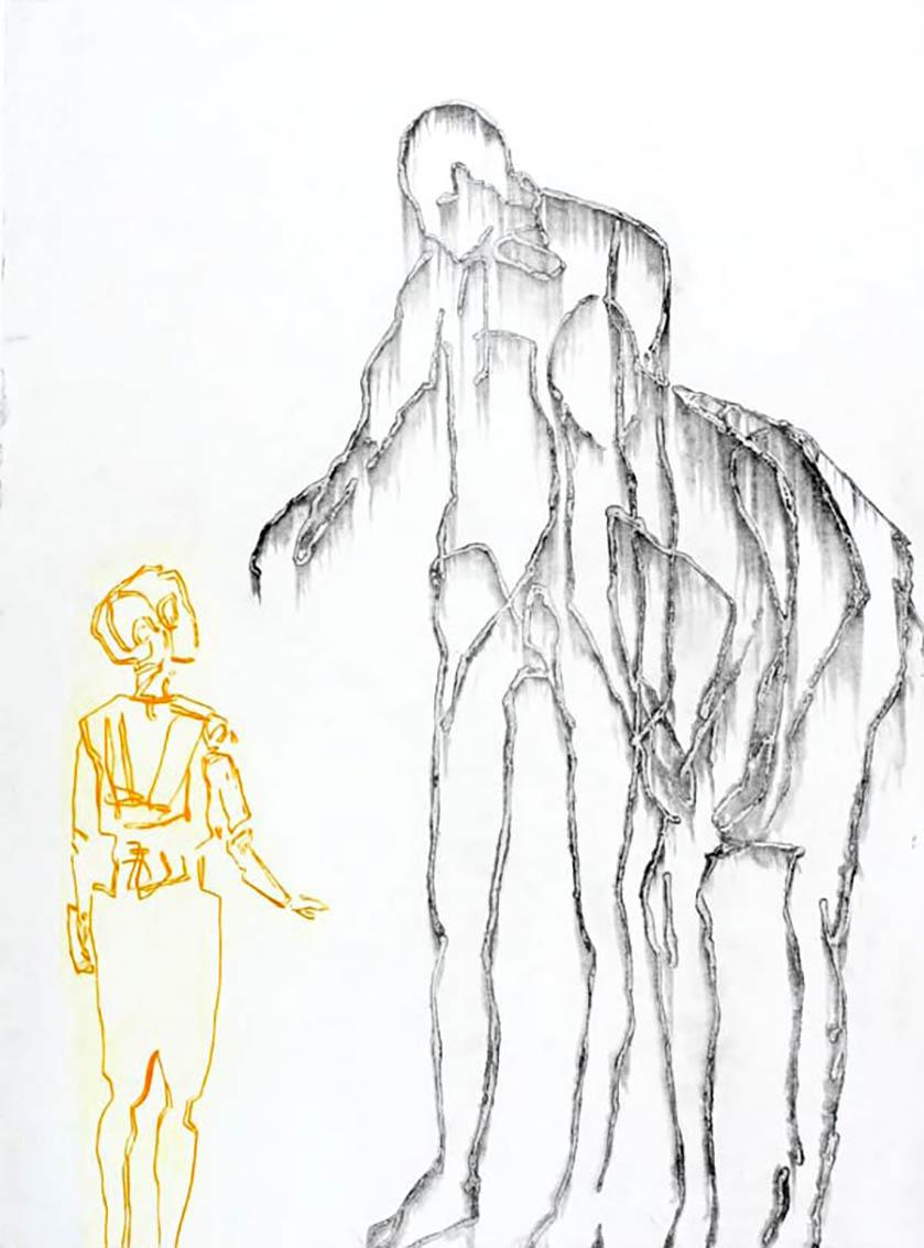 TERJE RESELL - THE CHILD Etsning Koldnål 65x88